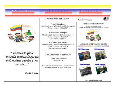 Jornada de Educación Inicial     Innovaciones Curriculares  -  01 de Diciembre 2009
