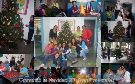 Comenzó la Navidad 2010 en Preescolar