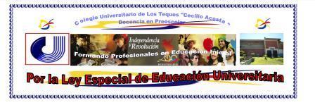 Por la Aprobación de La Ley Especial de Educación Universitaria