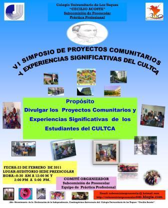 VI Simposio de Proyectos Comunitarios Y Experiencias Significativas del C.U.L.T.C.A.