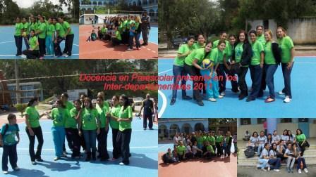 La Carrera Docencia en Preescolar participa en Inter-Departamentales 2011
