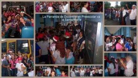 La Parranda de Docencia en Preescolar va a Santa María
