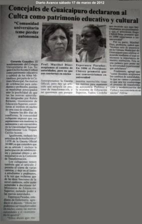 CULTCA Declarado Patrimonio Educativo y Cultural del Distrito Guaicaipuro