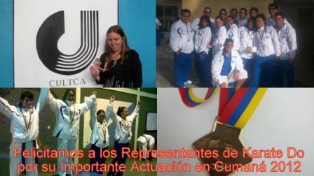 Felicitamos a la Representación de Karate Do del CULTCA en Cumaná 2012