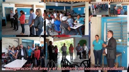 Inauguraci n del rea y mobiliario especial del comedor for Comedor estudiantil