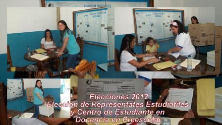 Elecciones 2012 en Docencia en Preescolar 12 de junio de 2012