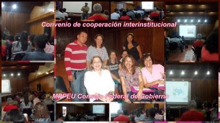 Convenio de Cooperación Interinstitucional MPPEU-Consejo Federal de Gobierno